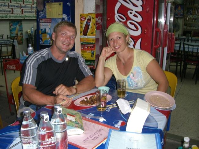 Abendessen vor der Fahrt im Orientexpress