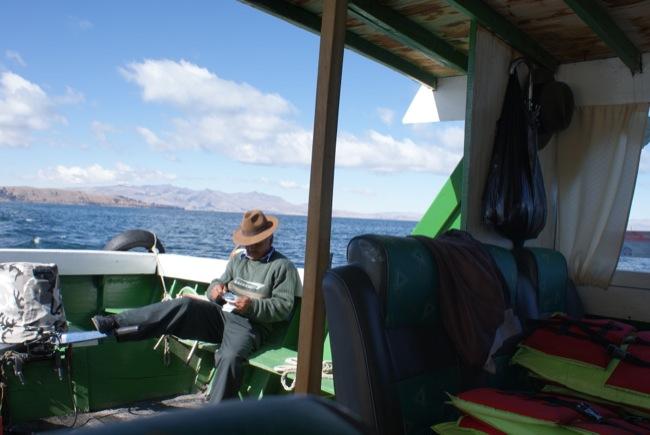 Steuermann Titicacasee Bolivien